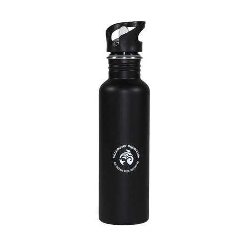 VA Logo Stainless Steel Water Bottle - Black