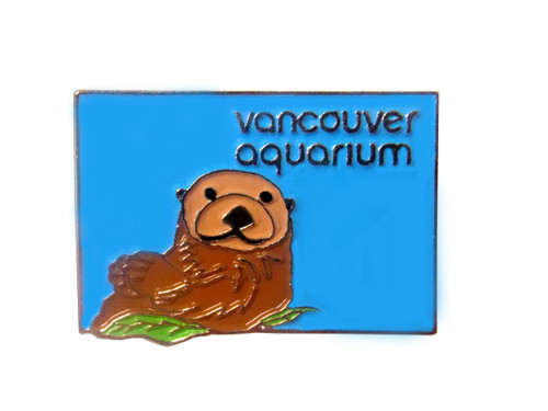 Vancouver Aquarium lapel pin with sea otter design