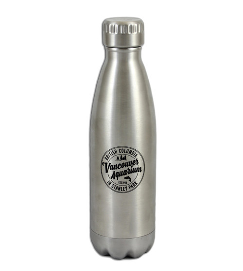 Stainless Steel bottle with Vancouver Aquarium logo