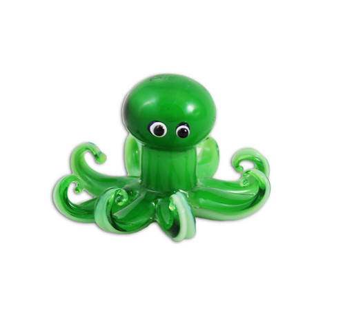 Green Octopus Figurine