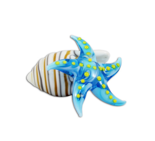 Sea Star with Shell Stripes Figurine