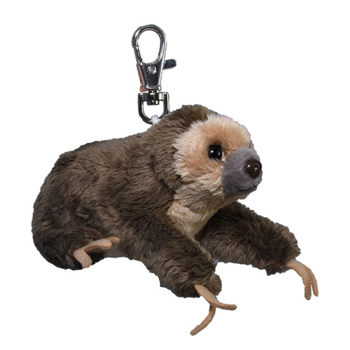 Sloth stuffy key ring