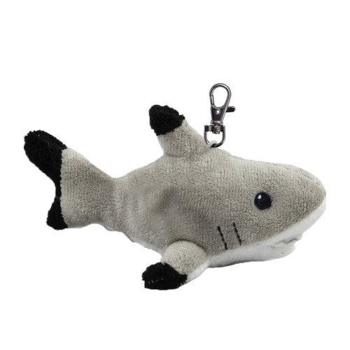 Stuffy, black tip reef shark key ring / backpack clip