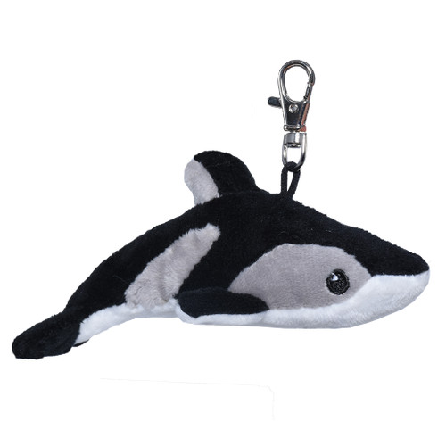 Pacific White Sided Dolphin stuffy, key ring