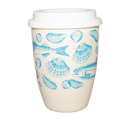 Ocean Wise bamboo travel mug