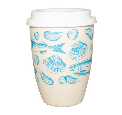 Ocean Wise bamboo travel mug