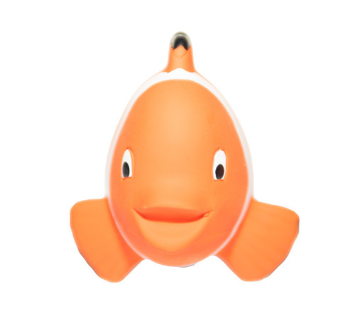 natural rubber clown fish bath toy