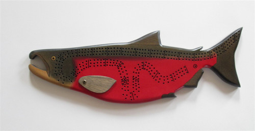 Spawning Coho Salmon Crib Board with pegs