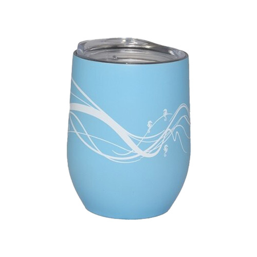 Insulated Wine Tumbler Blue