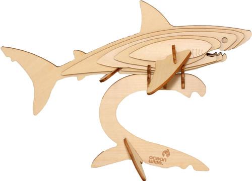 3D shark wood puzzle