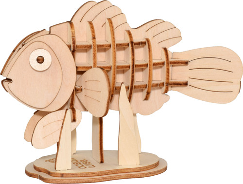 3D wood clownfish puzzle