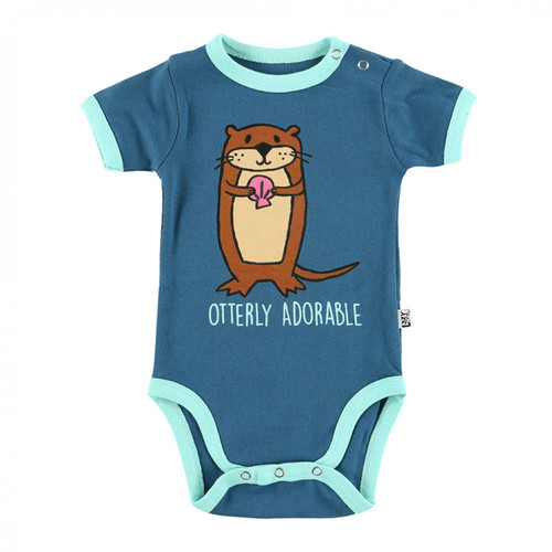 "You ""Otter"" put your little one in this creeper for perfect for innerwear and outerwear -""any-wear!"" Fitted with a comfortable stretch!"