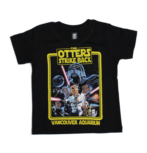 Rule the galaxy in this Sea Otters Strike Back t-shirt, available for kids, adults and droids alike.  100% Organic Cotton. Machine-washable