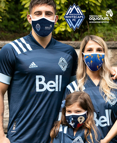 whitecaps and vancouver aquarium facemask