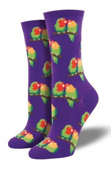 Maybe you're in love, or maybe you just love birds. Cuddle your feet in these colourful socks.