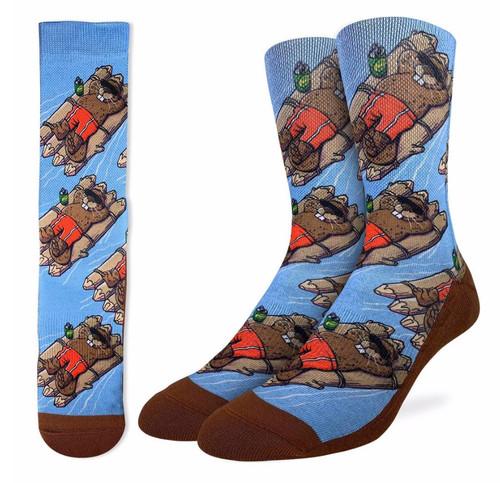 Floating Beavers Socks - Men