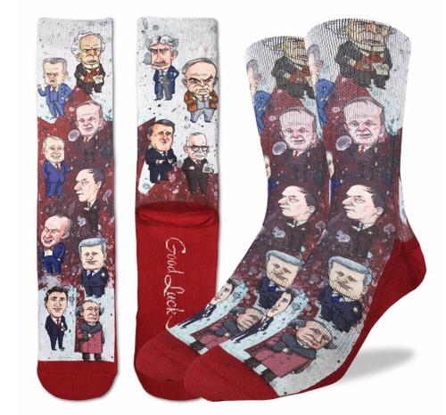 Canadian Prime Ministers Socks - Men