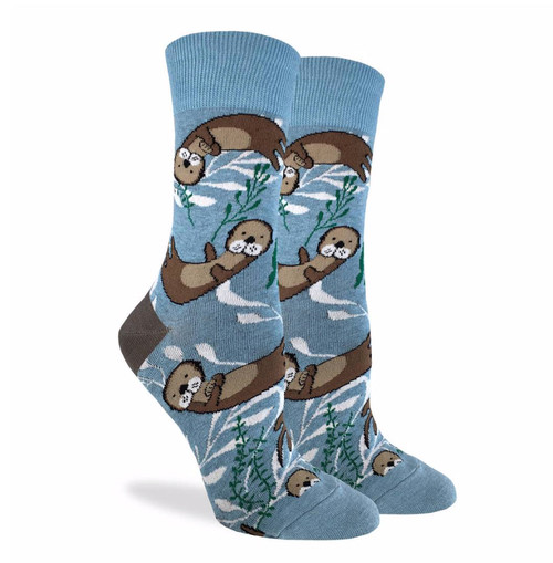women's socks with swimming otters