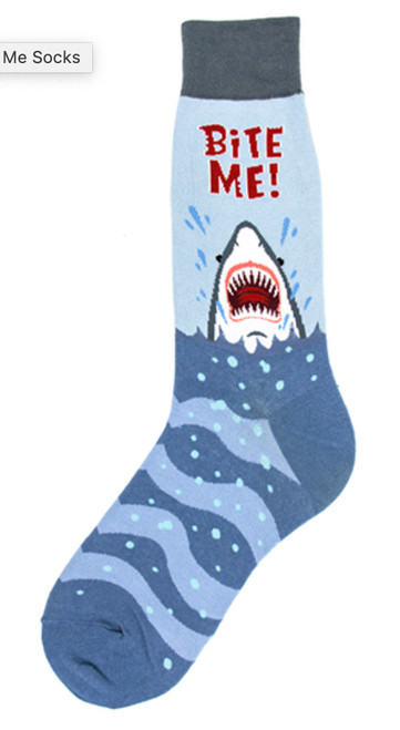 Bite Me! Shark Socks - Men