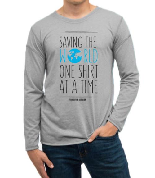 Saving the World - Adult Long Sleeve T-Shirt