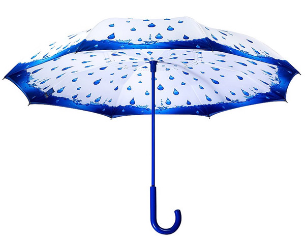 Umbrella with rain drops design