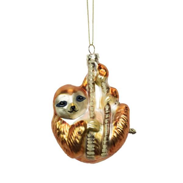 Glass Sloth ornament
