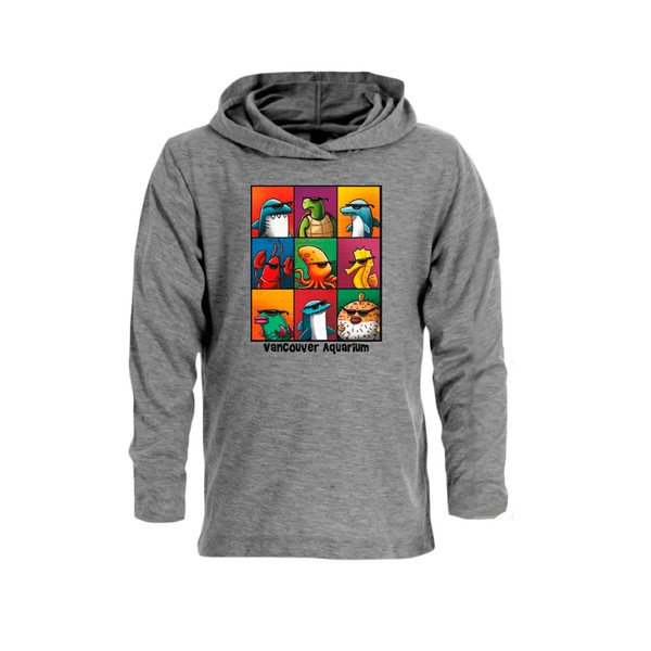 Cool Marine Life, Kid's Hoody - grey