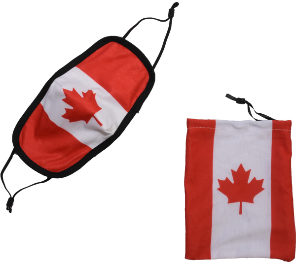 Canada Flag with Dark Trim non-medical Face Mask
