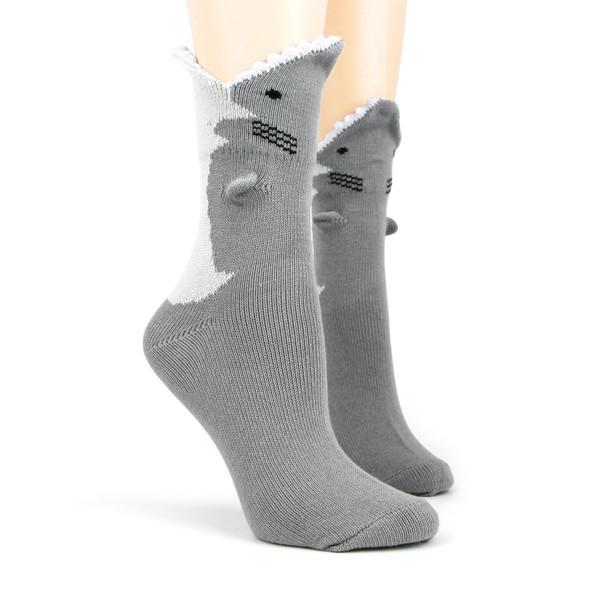 Great White Shark 3D Socks - Women
