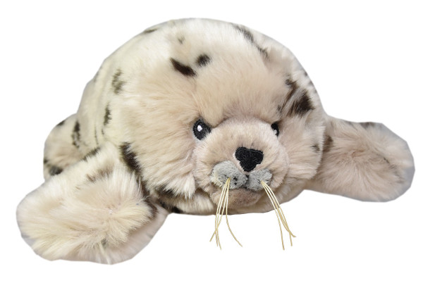 """Harbour Seal stuffy, 13"""", front view"""