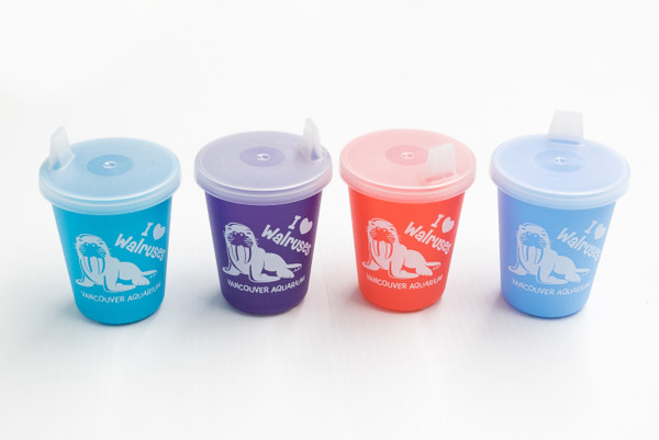 walrus toddler cup, assorted colours