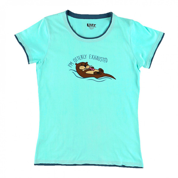 Our Otter pajamas will put a smile on your face after an Otterly Exhausting day! This tee has a trendy tapered cut with a contrasting, raw-edge trim around the neck and sleeves.
