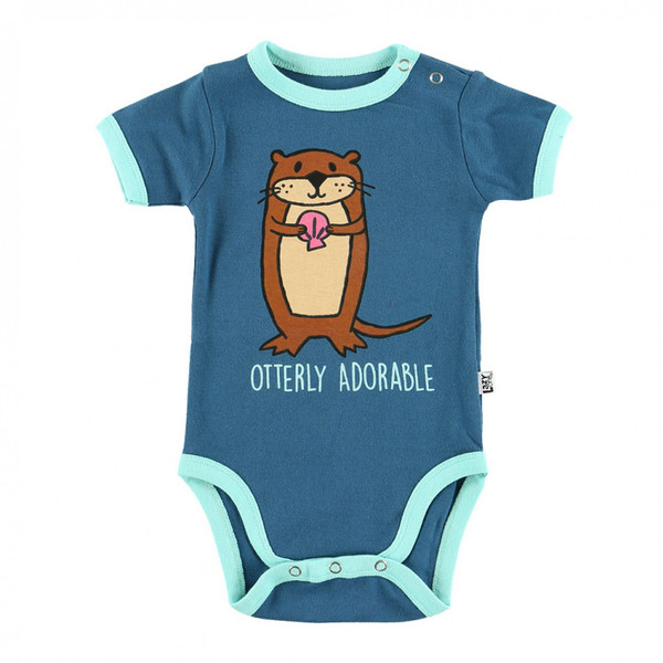 """You """"Otter"""" put your little one in this creeper for perfect for innerwear and outerwear -""""any-wear!"""" Fitted with a comfortable stretch!"""