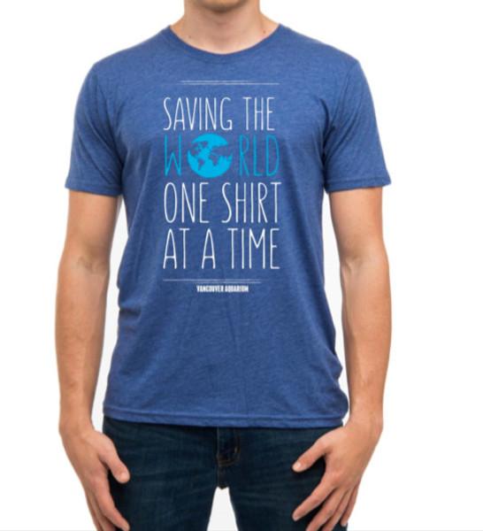 Saving the World t-shirt - blue