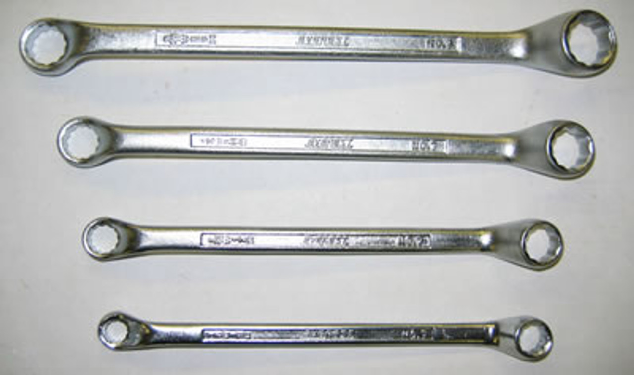 Everest Offset Ring Spanner Bihex Whitworth 4 piece Set - (ER14)