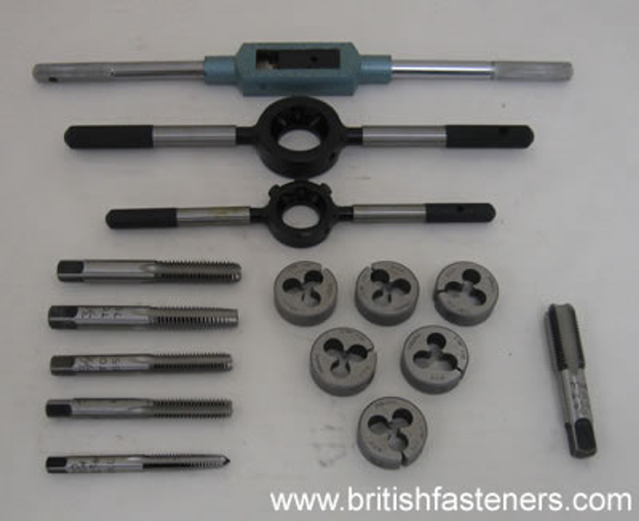 BRITISH TOOLS MOTORCYCLE BSC - CEI TAP & DIE SET - (4336)