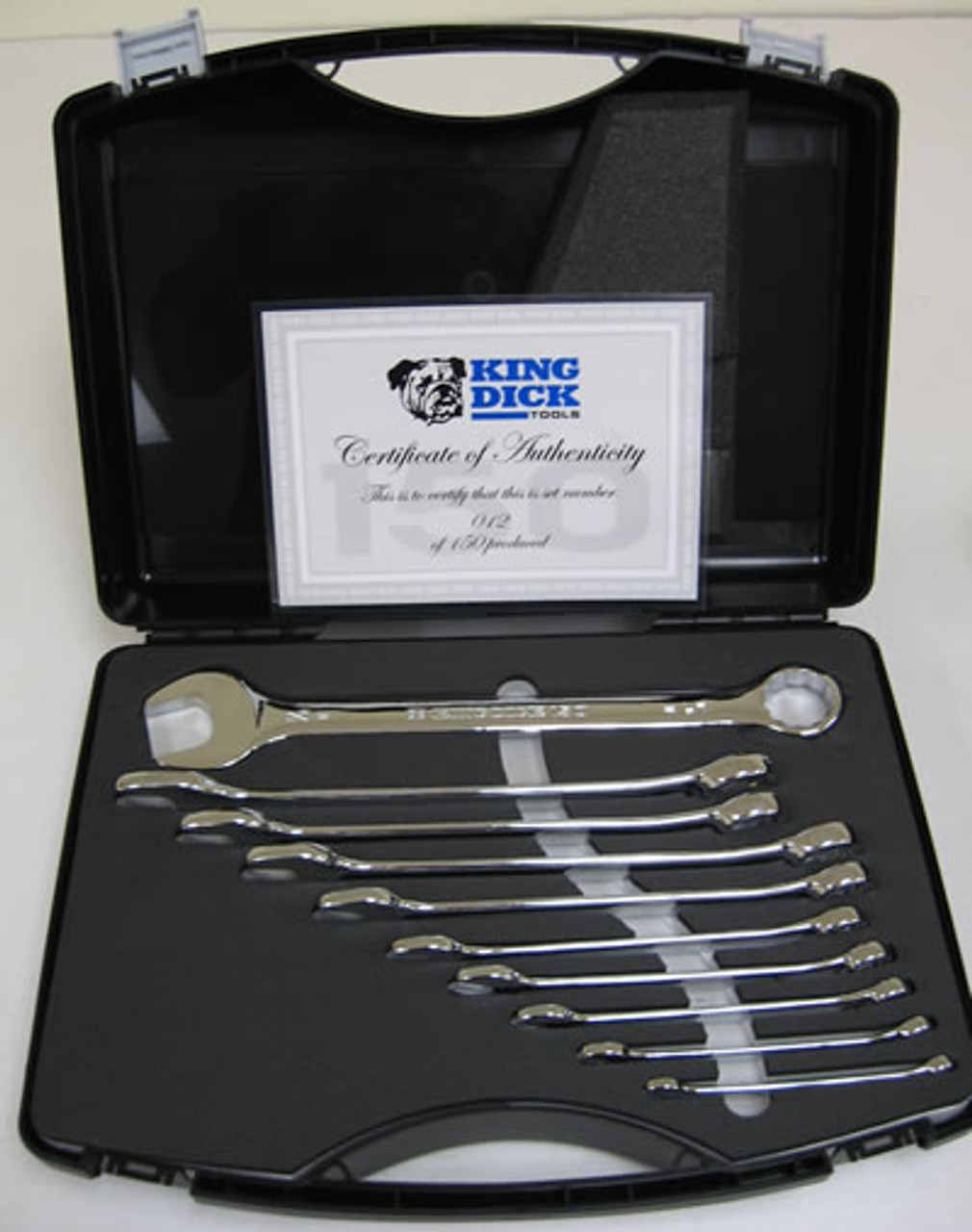 KING DICK 150TH ANNIVERSARY 10 PC COMBINATION WRENCH SET - (7783)
