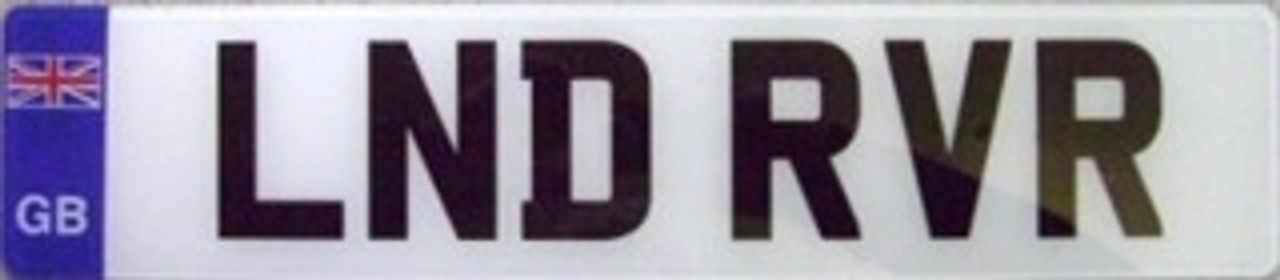 GB PLATE FOR CARS (2 PLATES)