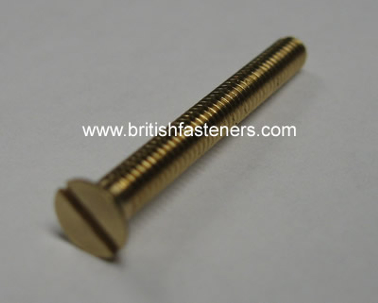 "BA SCREW BRASS C-SUNK 6 BA x 1"" - (2966)"