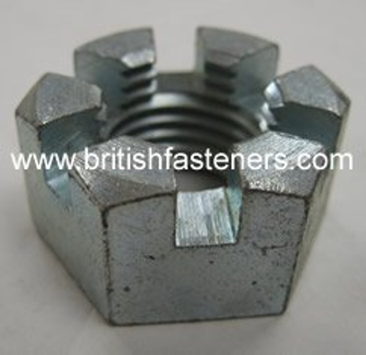 """BSF 1"""" - 10 SLOTTED NUT  (2400)"""
