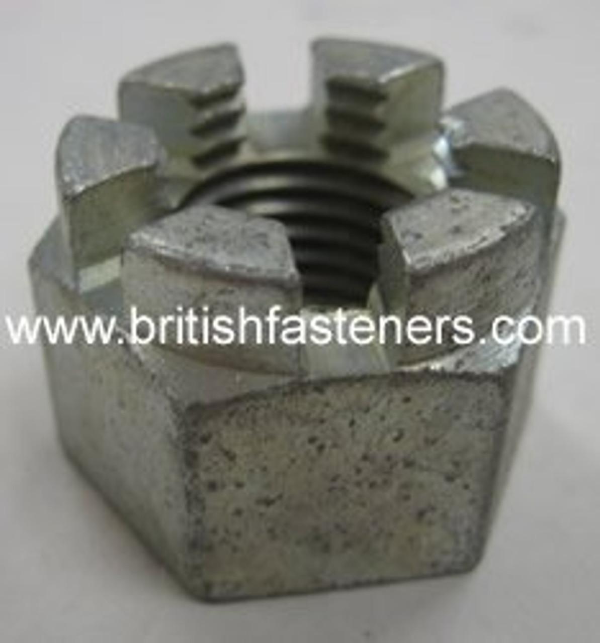 """BSF 3/8"""" - 20 CASTLE NUT  (2415)"""