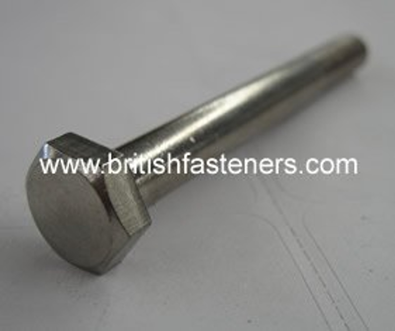 """Stainless Bolt BSF Hex 3/8""""-20  x 4-3/4"""" - (6526)"""