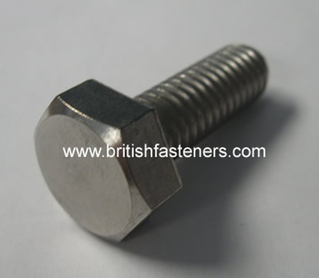 "BSW 1/2"" - 12 X 1-1/2"" STAINLESS HEX SCREW - (6306)"
