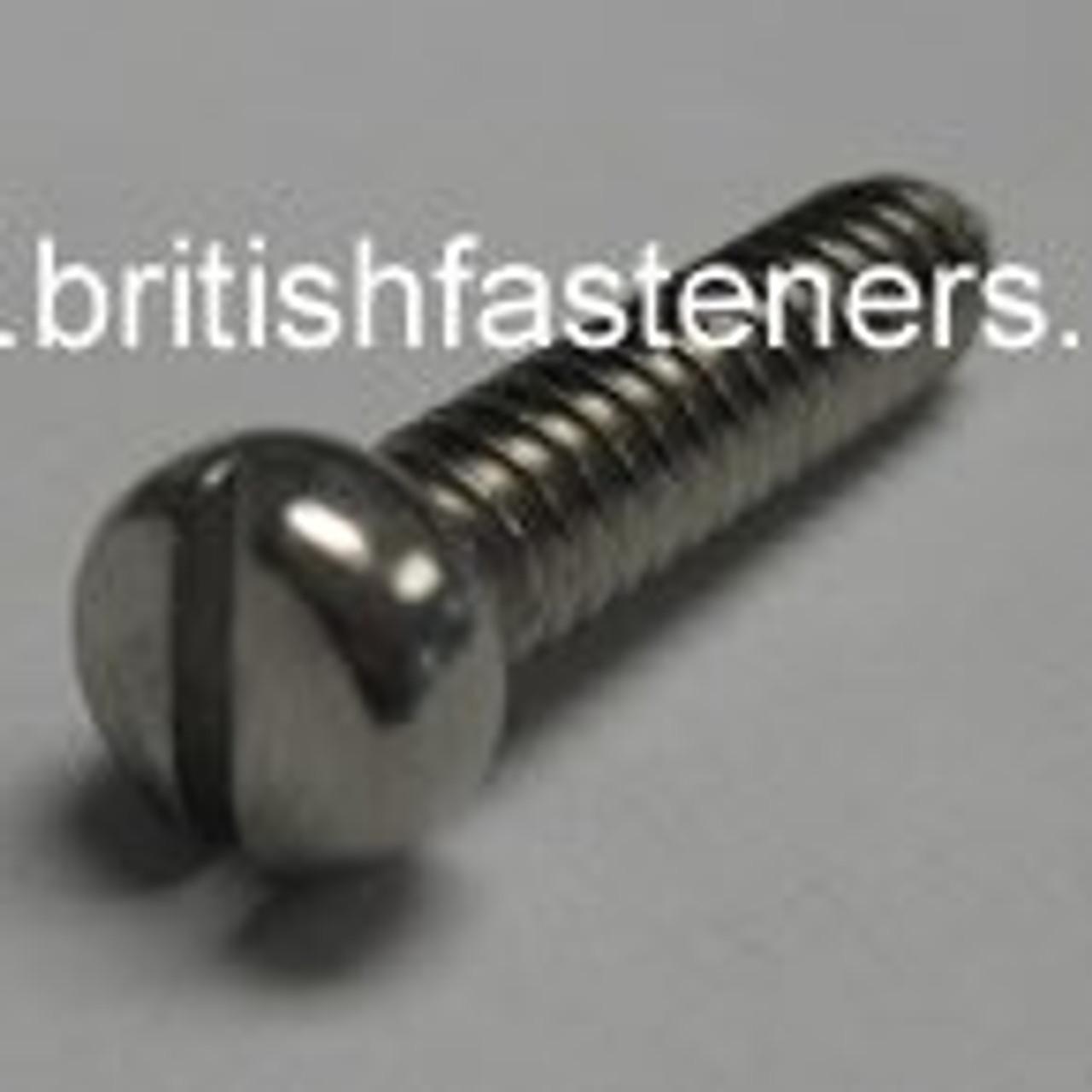 "1 BA x 11/16"" Stainless Phillister Screw - (7702)"