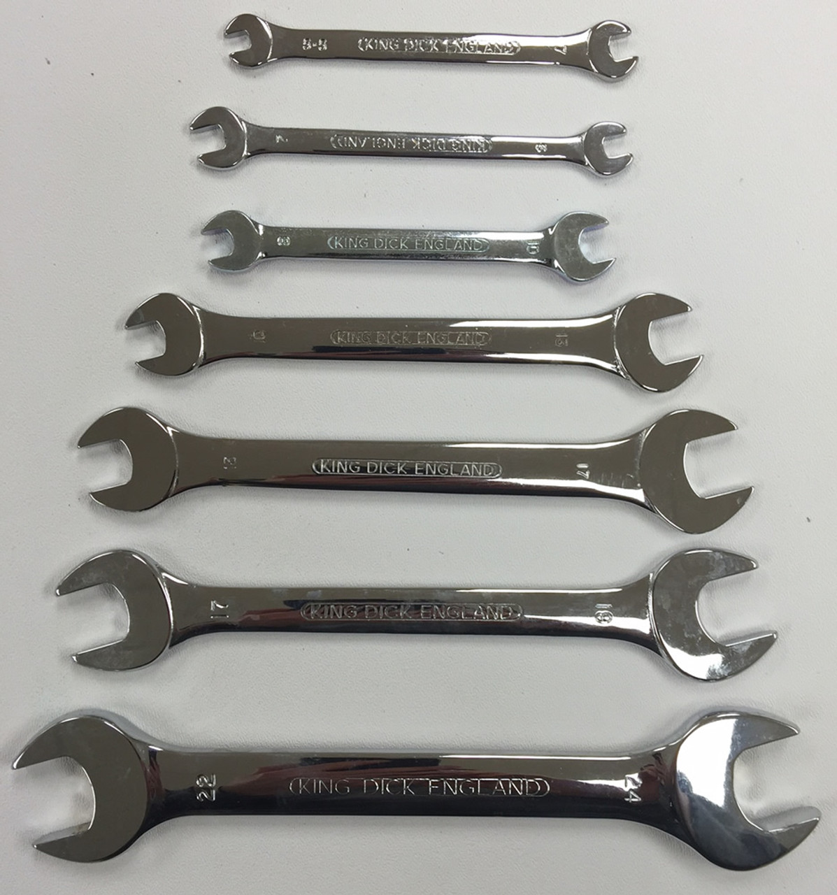 KING DICK 7 PC METRIC OPEN END WRENCH SET