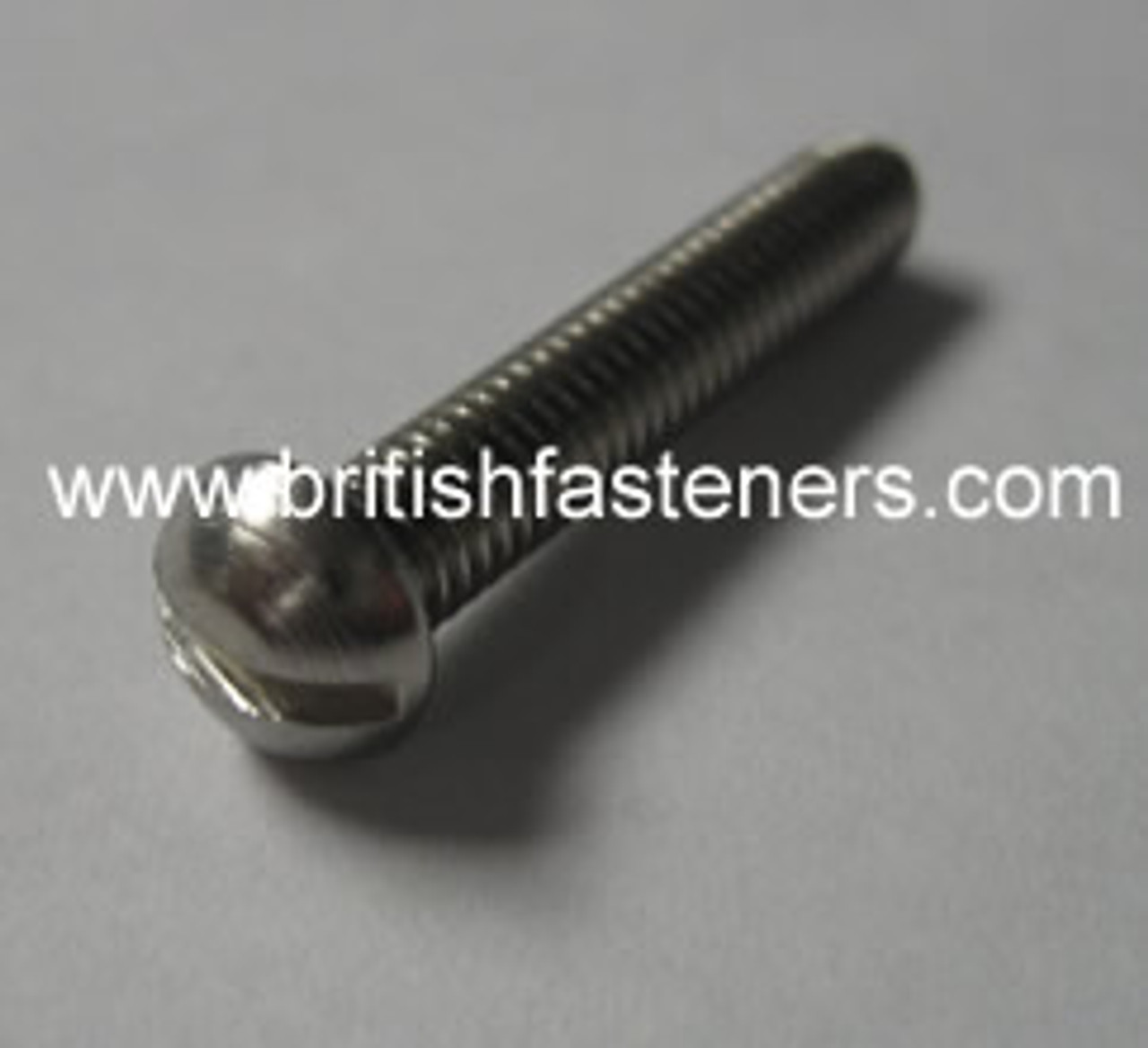 """4BA x 1/4"""" ROUND SLOTTED SCREW S/S - (6682A)"""
