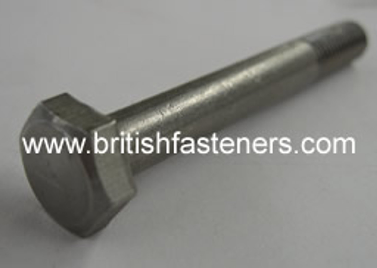 """Stainless Bolt BSF/BSC Hex 1/4 x 2 1/2"""" - (6350)"""