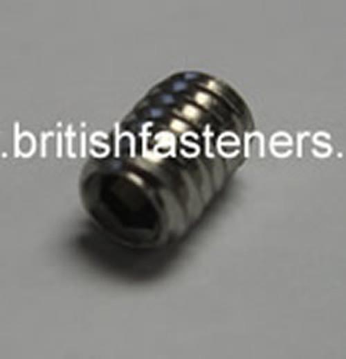 Stainless Grub Screw 4BA x 3/16 - (7300)