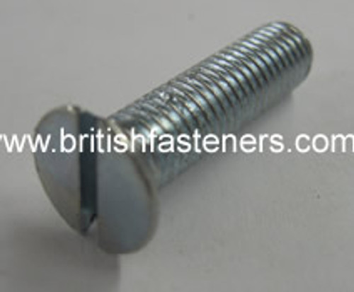 "BSF BOLT C-Sunk Slotted 1/4 - 26 x 1"" - (1875)"