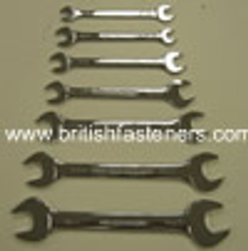 "OPEN END SPANNER SET (7 piece) 1/8-9/16"" WHITWORTH - (7761)"